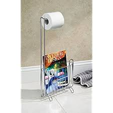 Chrome Toilet Paper Holder Magazine Rack Magnificent Amazon InterDesign Axis Free Standing Toilet Paper Holder And