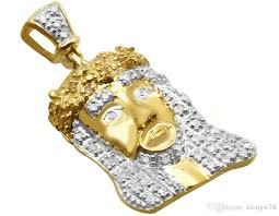 mens 10k yellow gold canary genuine diamond crown charm pendant 25ct 1