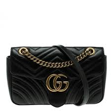 gucci black matelasse leather small gg marmont shoulder bag nextprev prevnext