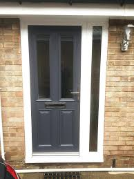 modern composite front doors uk. white composite front doors uk upvc door with side panel altmore design simple clear glass in a modern anthracite grey home r