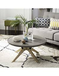Round outdoor coffee table Solid Wood Safavieh Vnn1026a Collection Bryson Dark Grey Indooroutdoor Modern Concrete Round 1457 Amazoncom Patio Coffee Tables Amazoncom