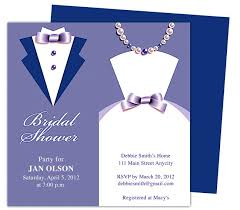 Wedding Invitation Template Publisher Couple Bridal Shower Invitations Template Available In Blue Purple