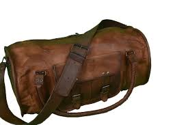 brown 20 inch leather duffle bag leather carry on bag brown leather carry all duffle bag