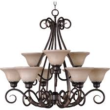 pacific 9 light chandelier finish cky bronzewith wilshire shade
