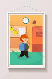 animated classroom door. Wonderful Classroom Cartoon School Road On The Way To Classroom Door New Semester Opening  Scene Illustration  For Animated Classroom Door