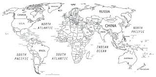 World Map Black And White Printable With Countries World Map With Country Names Printable New Map Africa Printable