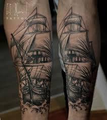 татуировка корабль значение эскизы тату и фото