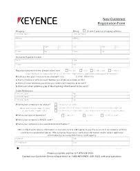 Customer Form Template Html Customer Information Form