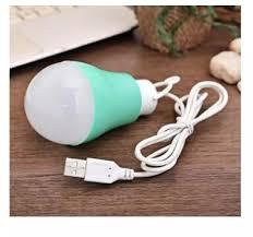 Bóng đèn Led nguồn cáp USB từ sạc dự phòng laptop máy tính tiết kiệm điện  5W thích hợp trong khi đi du lịch đi học cắm trại thắp sáng khi mất