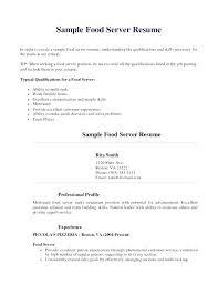 Server Resume Skills Stunning Server Resume Skills Examples Pohlazeniduse