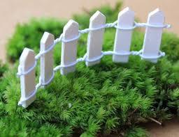 90cm long mini garden fence wooden