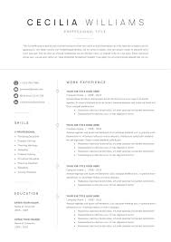 Clean Modern Resume Template Downloadingtemplatetipsfile