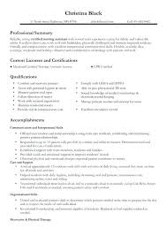 Sample Nurses Resume Interesting Resume Examples For A Nursing Assistant Fruityidea Resume