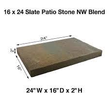 16 in x 24 in slate concrete patio