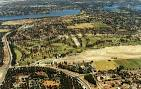 Aerial view of Collier Park Village and Golf Course, c.1990-1995 ...