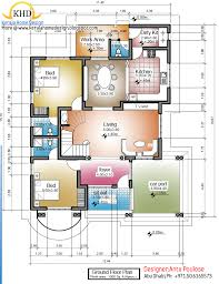 2430 square feet 4 bedroom double floor home design and plan