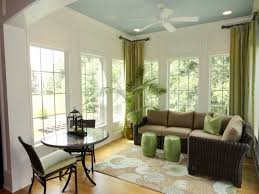 Design Ideas: Chinese Stools Drapes And House Plant Add Greenery To The  Cool Sunroom With