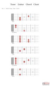 Tenor Guitar Chord Chart Tenor Guitar Chord Chart Guitar Scientist