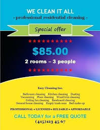 House Cleaning Flyer Template With Special Discount Offer Templates