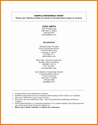 5 Example Reference Page Besttemplates Besttemplates