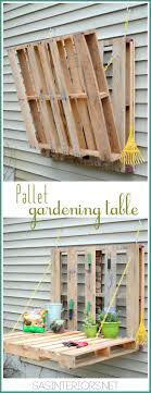 pallet patio furniture decor. VIEW IN GALLERY DIY Pallet Gardening Table Patio Furniture Decor A