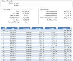 Loan Amortizer Loan Amortization Schedule Simple Amortization Schedule