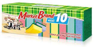 Купить <b>Губка для посуды</b> Market Brand Макси, 10 шт с доставкой ...