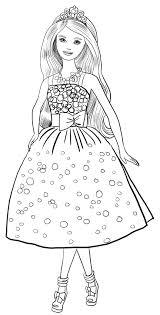 Disegno Di Barbie Festa Di Compleanno Da Colorare