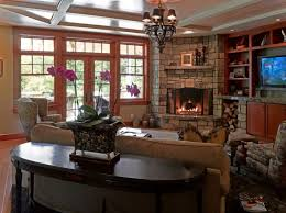 furniture ideas for family room. family room with a corner fireplace carry the masonry onto builtins furniture ideas for