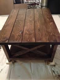 rustic x coffee table