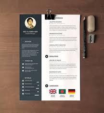 Free Modern Resume Templates 30 Free Beautiful Resume Templates To Download  Hongkiat Printable