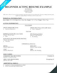 Audition Resume Format Adorable Musical Audition Resume Template Packed With Acting Resumes Resume