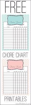 Chore Chart Free Printable Chore Chart Kids Printable