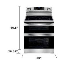 kenmore elite convection oven. kenmore elite 97323 6.9 cu. ft. double-oven electric range w/ true convection - stainless steel oven