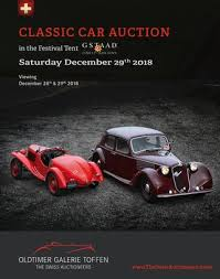 GSTAAD CLASSIC CAR AUCTION - December 29th 2018 by Oldtimer Galerie ...