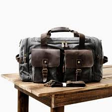 muchuan mens canvas leather travel bags carry on luggage handbags big traveling duffel bags tote large weekend bag overnight weekend bags travel backpacks