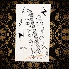 3d гитары водонепроницаемый временные татуировки для женщин дети средства ухода