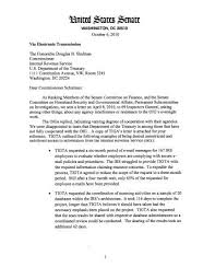 Letter From Us Senator Charles Grassley To The Nature Blogs