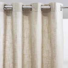 brillance linen effect single curtain with eyelets la redoute interieurs