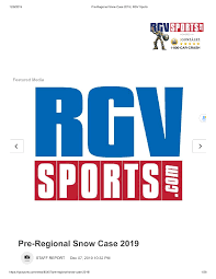 Pre-Regional Snow Case 2019