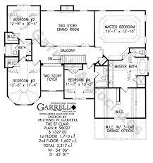 St  Clair House Plan   European Manor Plans    st clair house plan   nd floor plan