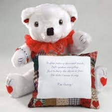 personalized i m sorry teddy bear
