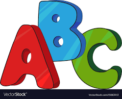 Cartoon image abc letters Royalty Free ...