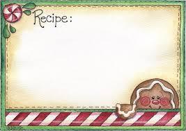 Christmas Recipe Card Christmas Recipes Cliparts Cliparts Zone
