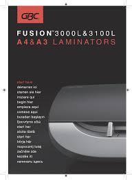 1668 <b>Fusion 3000L</b>-3100L Manual EU.indd