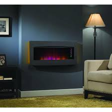 wall mount tabletop electric fireplace in black