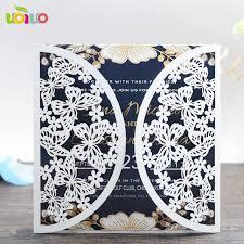 create invitation card free white and gold wedding invitation card tri fold laser cut 3d create
