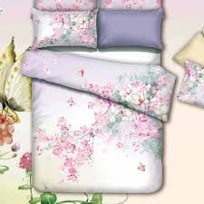Oriental Watercolor Flowers and Butterfly Bedding Set Queen Size ... & Oriental Watercolor Flowers and Butterfly Bedding Set Queen Size King Size Quilt  Cover Bed Linens Cotton Adamdwight.com