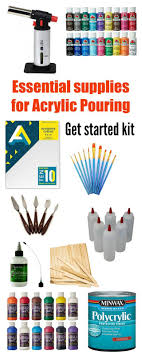 essential basic supplies needed to begin your exciting new hobby for acrylic pouring painting beginners