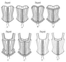 Corset Pattern Best B48 Boned Corsets With Lacing Sewing Pattern Butterick Patterns